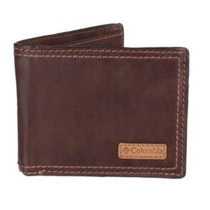 Men's Brown Leather Columbia Wallet